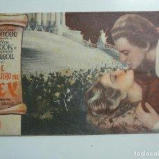Cine: EL CONSEJERO DEL REY. DOBLE CON PUBLICIDAD. AÑO 1936. Lote 111972963