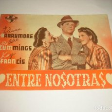 Cine: ENTRE NOSOTRAS , PROGRAMA DOBLE, SIN PUBLICIDAD. Lote 112006983