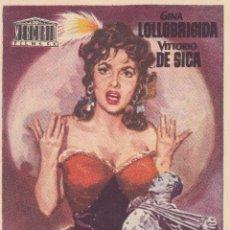 Cine: PAN, AMOR Y...CELOS CON GINA LOLLOBRIGIDA Y VICTORIO DE SICA AÑO 1957 CINEMAS PRINCIPAL Y LA RAMBLA. Lote 112009251