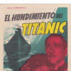 Cine: EL HUNDIMIENTO DEL TITANIC CON BÁRBARA STANWYCK Y CLIFTON WEBB AÑO 1954 CINEMAS RAMBLA Y PRINCIPAL. Lote 112011279