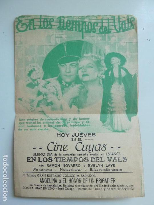 Cine: EN LOS TIEMPOS DEL VALS. DOBLE CON PUBLICIDAD - Foto 2 - 112043543