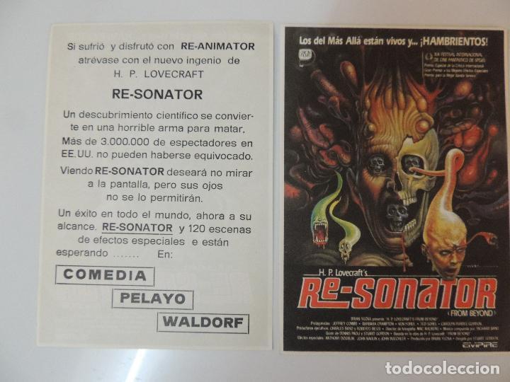 RE-SONATOR FROM BEYOND - FOLLETO MANO ORIGINAL - STUART GORDON IMPRESO CINE COMEDIA PELAYO WALDORF (Cine - Folletos de Mano - Terror)