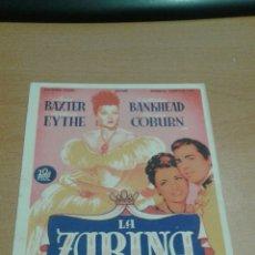 Cine: LA ZARINA SOLIGO SIMPLE. Lote 112049872