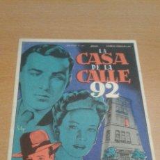 Cine: LA CASA DE LA CALLE 92 SOLIGO SIMPLE. Lote 112050730