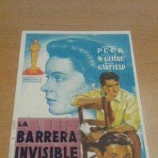 Cine: LA BARRERA INVISIBLE SIMPLE SOLIGO. Lote 112050794