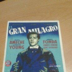Cine: EL GRAN MILAGRO SIMPLE SOLIGO. Lote 112052838