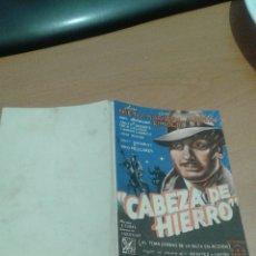 Cine: PROGRAMA DOBLE SIMPLE CABEZA DE HIERRO. Lote 112053919
