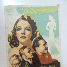 Cine: LA MUJER INVISIBLE - FOLLETO MANO ORIGINAL - VIRGINIA BRUCE JOHN BARRYMORE BALET Y BLAY IMPRESO. Lote 112066103