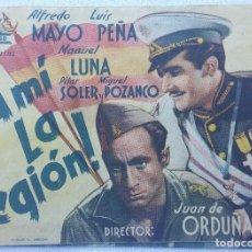 Cine: FOLLETO DE MANO - A MI LA LEGIÓN. Lote 112112507