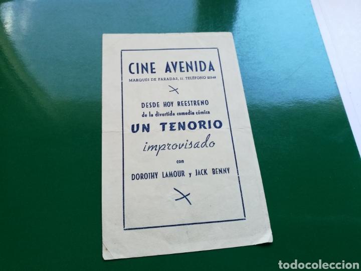 Cine: Programa de cine. Un Tenorio improvisado. Publicidad cine Avenida de Sevilla - Foto 2 - 112128143