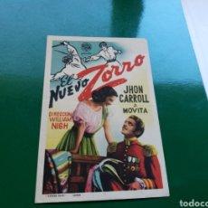 Cine: PROGRAMA DE CINE. EL NUEVO ZORRO. Lote 112128483