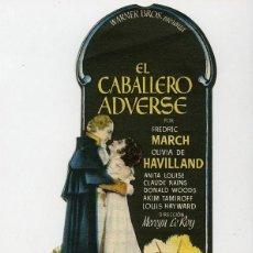 Cine: EL CABALLERO ADVERSE. GRAN CINE CENTRAL DE CARTAGENA (MURCIA). AÑO 1948. TROQUELADO.. Lote 112226671