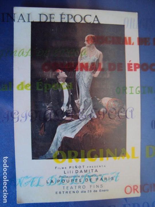 (PG-180001)PROGRAMA DE CINE DE LILI DAMITA EN LA POUPEE DE PARIS (Cine - Folletos de Mano - Musicales)
