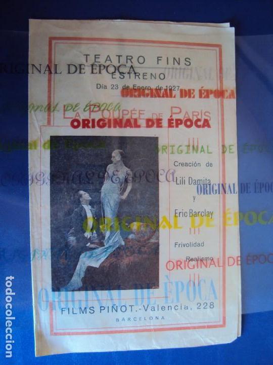 (PG-180016)PROGRAMA DE CINE DE LILI DAMITA EN LA POUPEE DE PARIS (Cine - Folletos de Mano - Comedia)