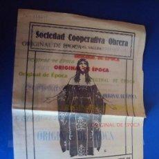 Cine: (PG-180021)PROGRAMA DE CINE MONNA VANNA - SOCIEDAD COOPERATIVA OBRERA MOLLET DEL VALLES - 1925. Lote 112335303