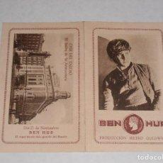 Cine: FOLLETO DE MANO DE LA PELICULA BEN HUR. 1925? CINE DEL CALLAO. MADRID.. Lote 112353059