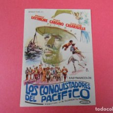 Cine: FOLLETO DE MANO (LOS CONQUISTADORES DEL PACIFICO) FRANK LATIMORE / PILAR CANSINO. Lote 112386515