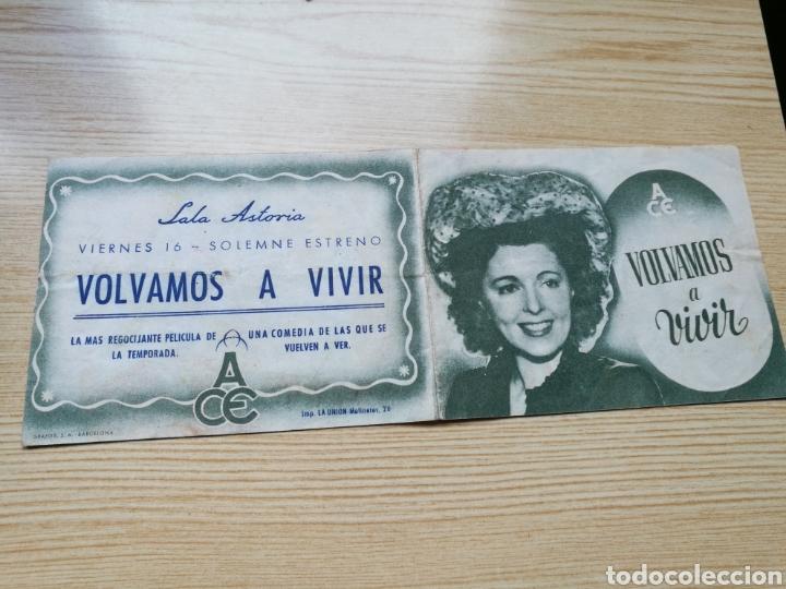PROGRAMA DE CINE DOBLE. VOLVAMOS A VIVIR. CON PUBLICIDAD SALA ASTORIA (Cine - Folletos de Mano - Comedia)