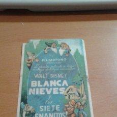 Cine: BLANCA NIEVES Y LOS 7 ENANITOS. Lote 112420242
