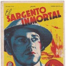 Cine: EL SARGENTO INMORTAL CON HENRY FONDA Y MAUREEN O' HARA AÑO 1946 EN CINEMAS LA RAMBLA Y PRINCIPAL. Lote 112465075