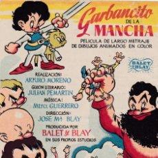 Cine: GARBANCITO DE LA MANCHA AÑO 1946 EN CINEMAS LA RAMBLA. Lote 112466179