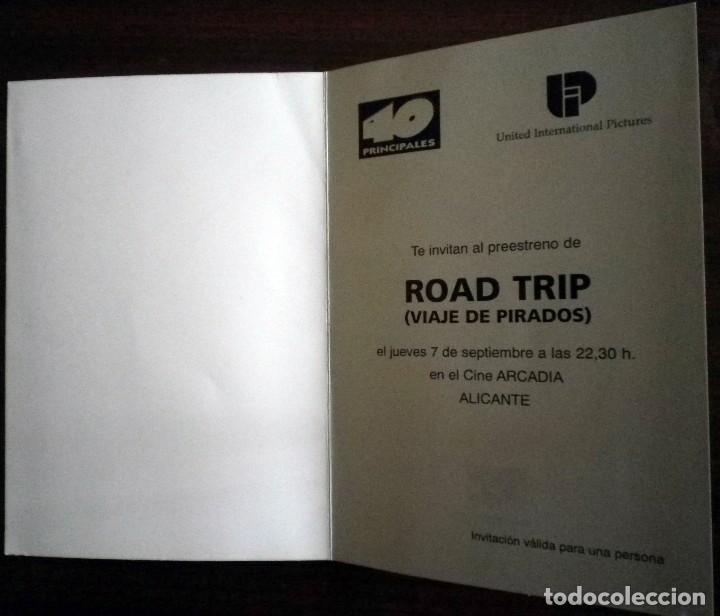 Cine: Road Trip. Viaje de pirados. Folleto invitación al preestreno - Foto 3 - 112470699