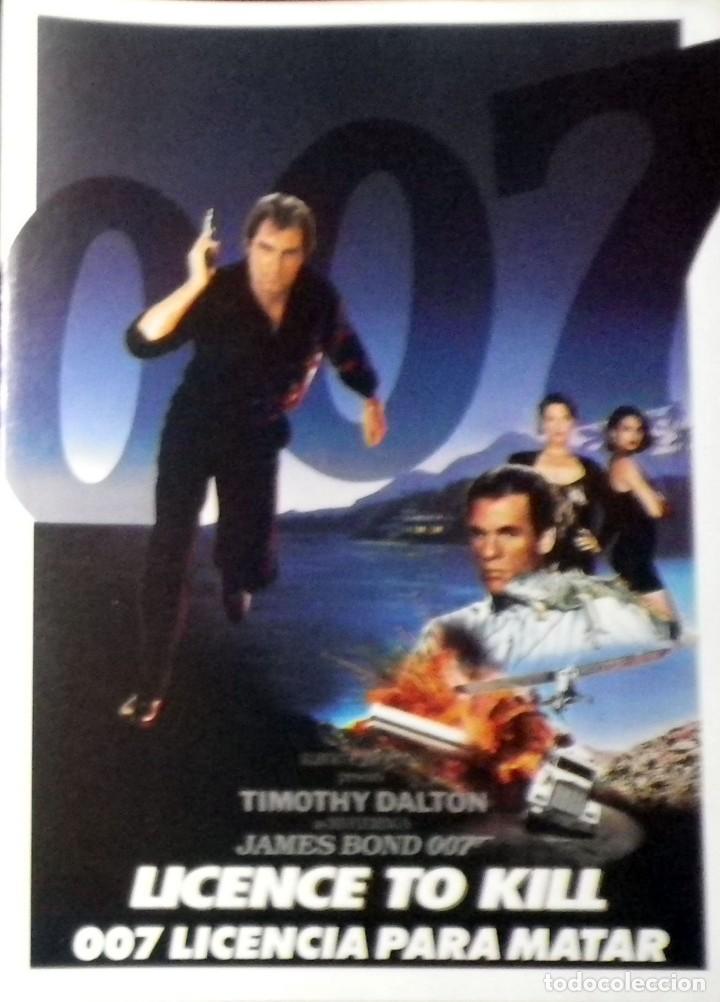 007 LICENCIA PARA MATAR - FOLLETO DE MANO TRÍPTICO (Cine - Folletos de Mano - Acción)
