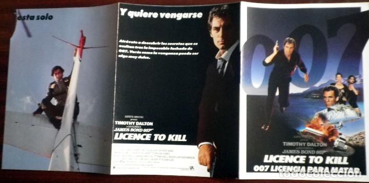 Cine: 007 Licencia para matar - Folleto de mano tríptico - Foto 2 - 112473123