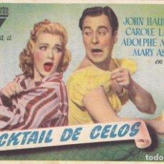 Cine: COCKTAIL DE CELOS CON JOHN HAUBBARD, CAROLE LANDIS, ADOLPHIE MENJOLI, MARY ASTOR AÑO 1948. Lote 112542295