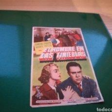 Cine: PROGRAMA DE CINE. EL HOMBRE EN LAS TINIEBLAS. Lote 112659475