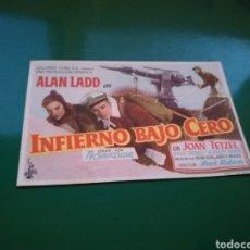 Cine: CAMA DE CINE. INFIERNO BAJO CERO. Lote 112660190