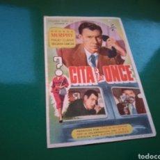 Cine: PROGRAMA DE CINE. CITA A LAS. Lote 112660242