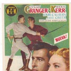 Cine: EL PRISIONERO DE ZENDA CON JAMES MASON, STEWART GRANGER, DEBORAH KERR AÑO 1954 (PUBLICIDAD). Lote 112691011
