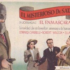 Cine: EL MISTERIOSO DR. SATÁN -EL ENMASCARADO CON EDWARD CIANNELLI, ROBERT WILCOX, ELLA NEAL. Lote 112691719