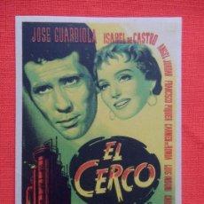 Cine: EL CERCO, SENCILLO ORIGINAL, JOSE GUARDIOLA ISABEL CASTRO, SIN PUBLICIDAD. Lote 112807495