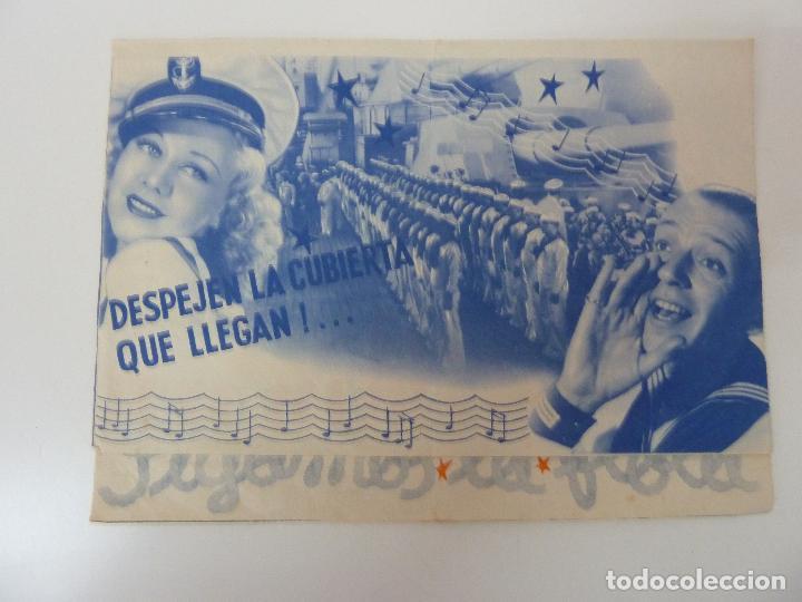 SIGAMOS LA FLOTA. DOBLE CON PUBLICIDAD. AÑO 1941 (Cine - Folletos de Mano - Musicales)