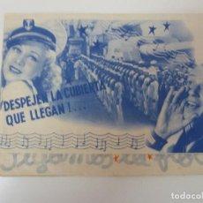 Cine: SIGAMOS LA FLOTA. DOBLE CON PUBLICIDAD. AÑO 1941. Lote 112873623