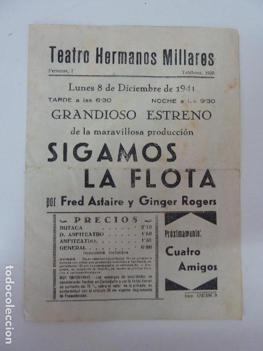 Cine: SIGAMOS LA FLOTA. DOBLE CON PUBLICIDAD. AÑO 1941 - Foto 2 - 112873623
