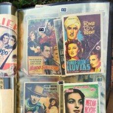 coleccion de folletos de mano de cine programas de cine, album grande, se venden juntos