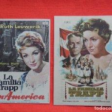 Cine: LA FAMILIA TRAPP Y LA FAMILIA TRAPP EN AMERICA, 2 IMPECABLES, RUTH LEUKERIK, CON PUBLICIDAD LOS 2. Lote 112900151