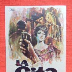Cine: LA CITA, IMPECABLE SENCILLO, GEORGE SANDERS JUAN C. PASCAL, CON PUBLI BARTRINA 1964. Lote 112900743