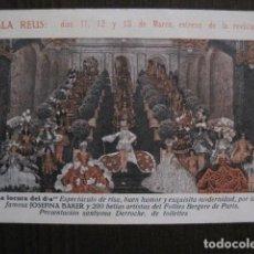 LA LOCURA DEL DIA - JOSEPHINE BAKER - SALA REUS - TARJETA POSTAL -VER FOTOS-(C-4.111)