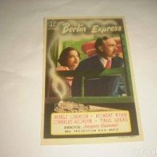 Cine: BERLIN EXPRESS , SIN PUBLICIDAD. Lote 112904539
