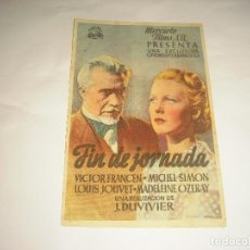 Cine: FIN DE JORNADA , CINE ZORRILLA. Lote 112910819
