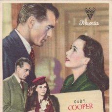Foglietti di film di film antichi di cinema: CASANOVA BROWN CON GARY COOPER Y TERESA WRIGHT AÑO 1946 EN CINEMAS PRINCIPAL Y LA RAMBLA. Lote 112914283