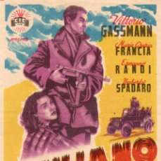 Flyers Publicitaires de films Anciens: GIULIANO EL BANDIDO DE SICILIA, SIN PUBLICIDA. Lote 112918747