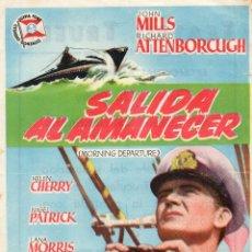 Flyers Publicitaires de films Anciens: SALIDA AL AMANECER. CON PUBLICIDAD. Lote 112918979
