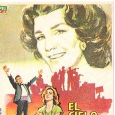 Cine: PROGAMA ORIGINAL ESTRENO -EL CIELO Y LA TIERA- (LIBERTAD LAMARQUE). Lote 112928603