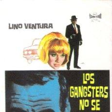 Cine: PROGAMA ORIGINAL ESTRENO- LOS GANGSTERS NO SE JUBILAN- (LINO VENTURA). Lote 112928779