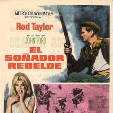 Cine: PROGAMA ORIGINAL ESTRENO CON PUBLICIDAD EL SOÑADOR REBELDE(ROD TAYLOR). Lote 112928943
